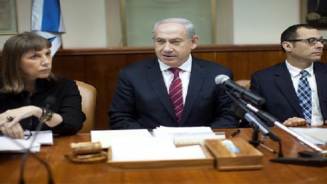 بنيامين نتانياهو خلال اجتماع مجلس الوزراء الاسبوعي