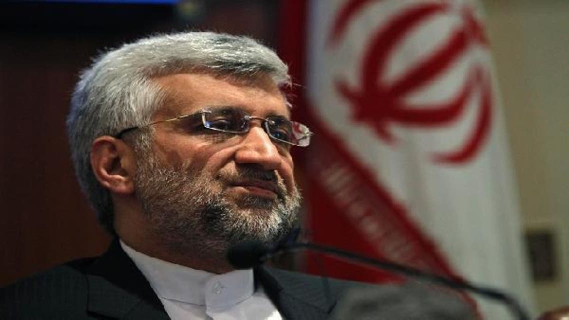 Iran's chief nuclear negotiator Saeed Jalili speaks during a news conference in New Delhi January 4, 2013. (Reuters)