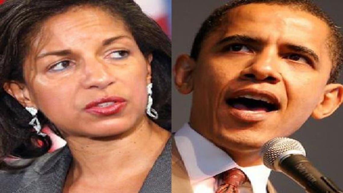 باراك أوباما وسوزان رايس
