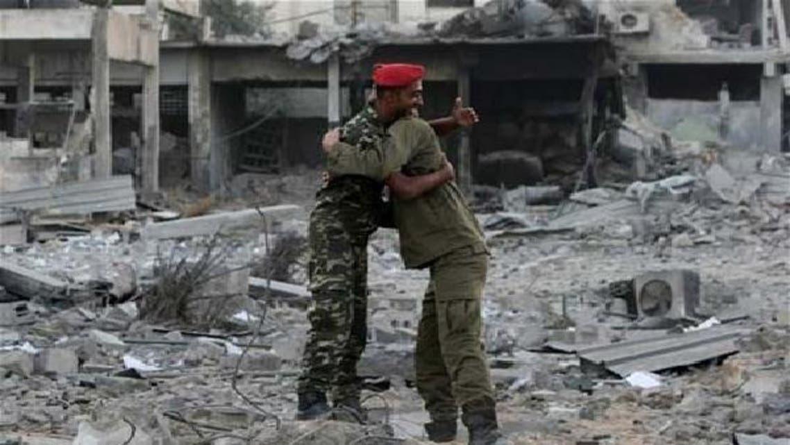 غزہ شہر میں حماس کی سکیورٹی فورسز کا اسرائیلی فضائیہ کی بمباری میں تباہ شدہ ہیڈکوارٹر