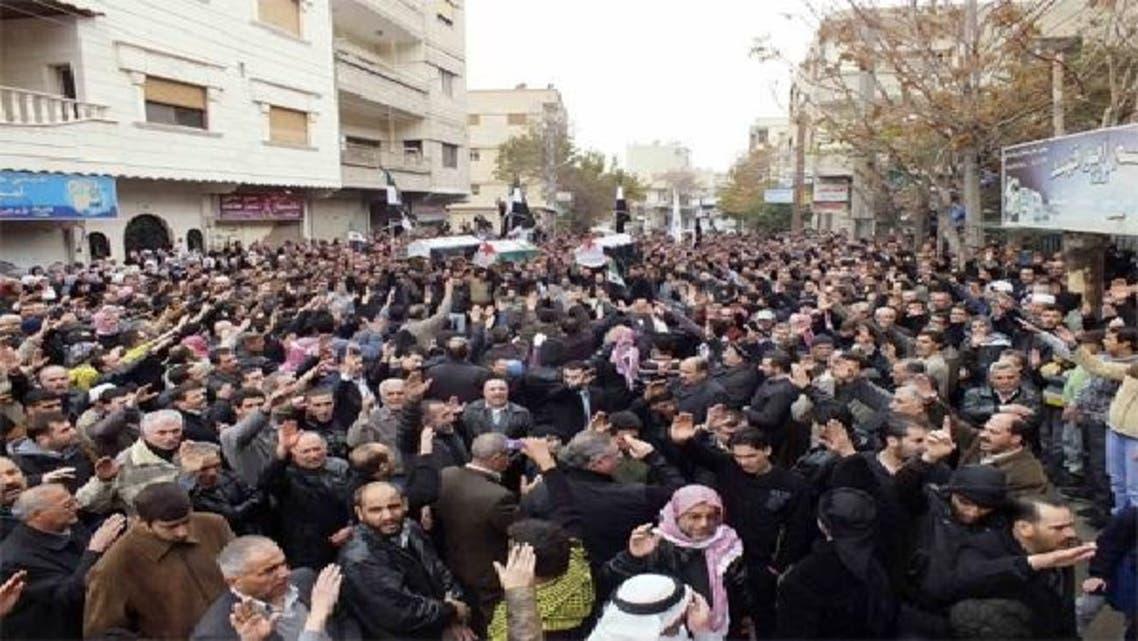 شام میں ہونے والے مظاہرے: فائل فوٹو