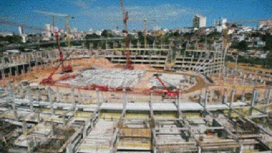 أعمال الإنشاءات في الملاعب البرازيلية تسير بصورة جيدة بخلاف المطارات والطرق
