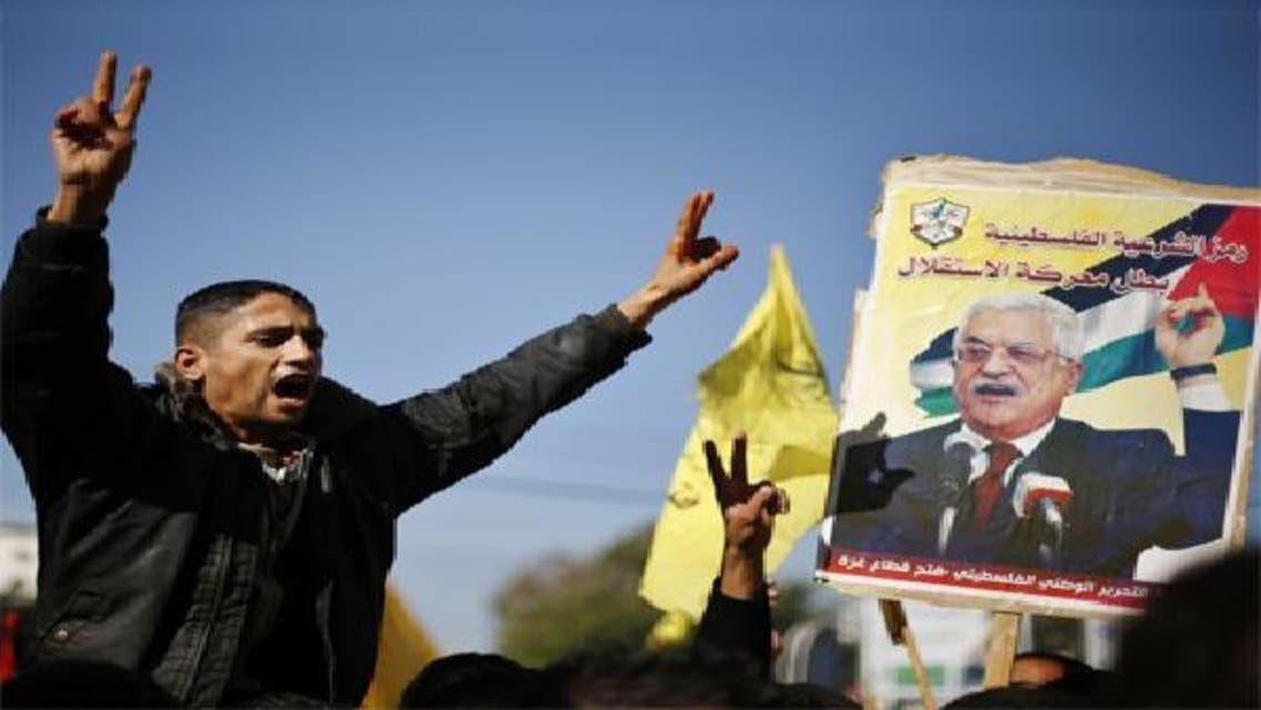 تجمع حاشد لدعم جهود الرئيس عباس في غزة