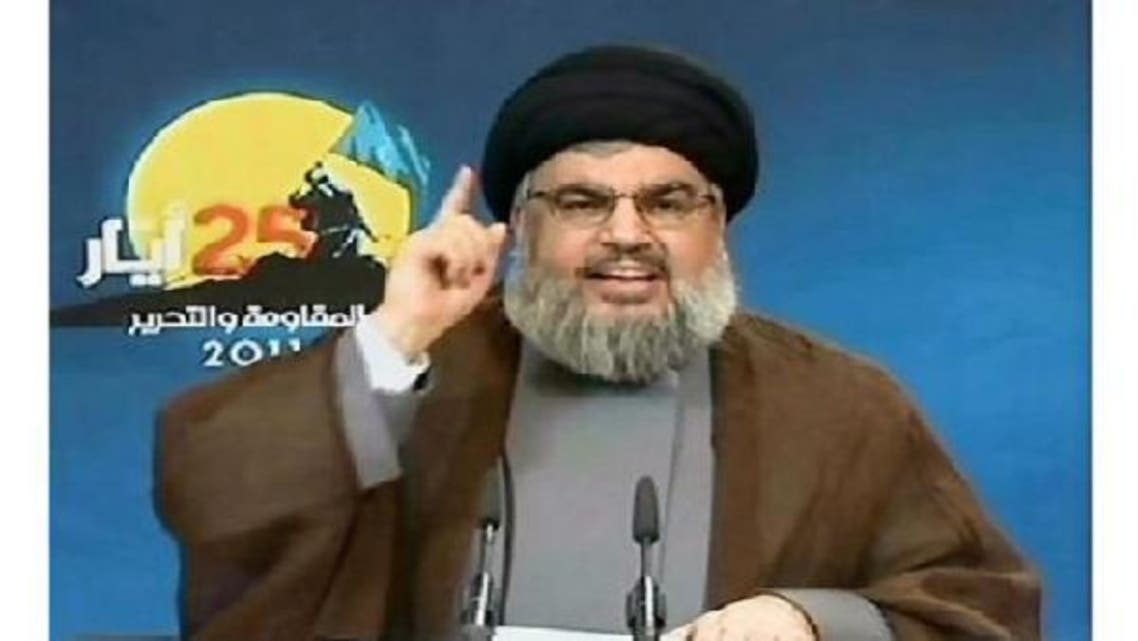 """Hassan Nasrallah, chief of the Shiite movement Hezbollah, warns that """"thousands of rockets"""" will hit Israel if it attacks Lebanon. (AFP)"""