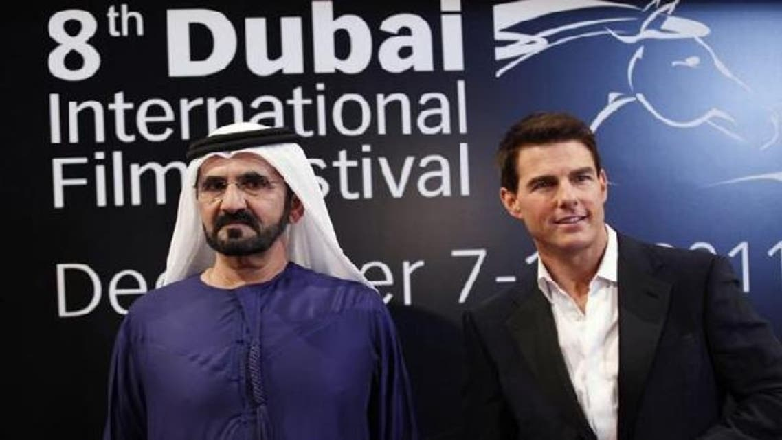"Last year, Dubai ruler Sheikh Mohammed bin Rashid Al Maktoum met with Tom Cruise at the festival for the premiere of Cruise's ""Mission Impossible: Ghost Protocol"". (Reuters)"