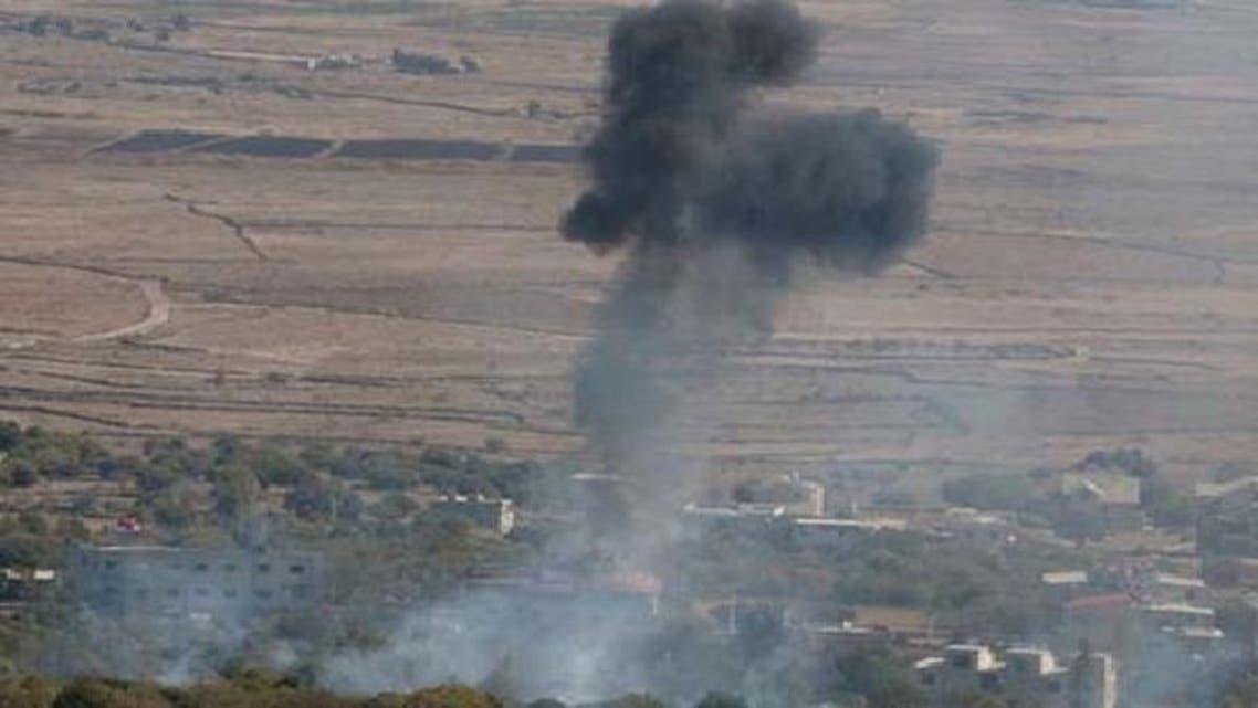 شامی علاقے سے فائر کیا گیا مارٹر بم گولان کی پہاڑیوں پر جا گرا