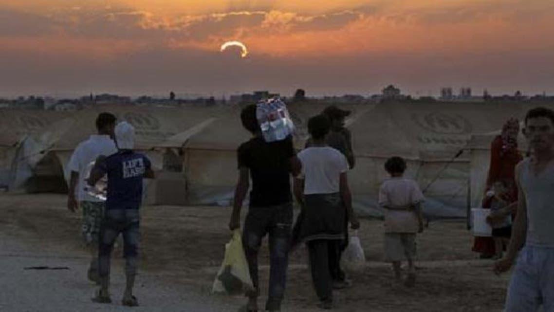 شام کی سرحد کے نزدیک واقع اردن کے شہر مفراق میں قائم کیا گیا آل زاتاری کیمپ