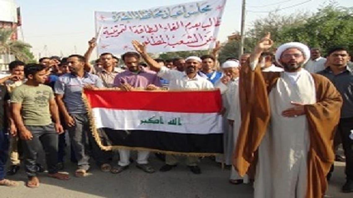 جنوبی عراق کے شہر بصرہ میں ہونے والا احتجاجی مظاہرہ