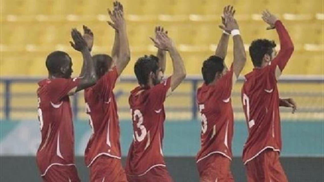 فرحة لاعبي البحرين بالتأهل