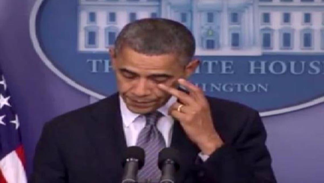 نیو ٹاؤن واقعے پر ردعمل دیتے ہوئے صدر براک اوباما آبدیدہ ہو گئے