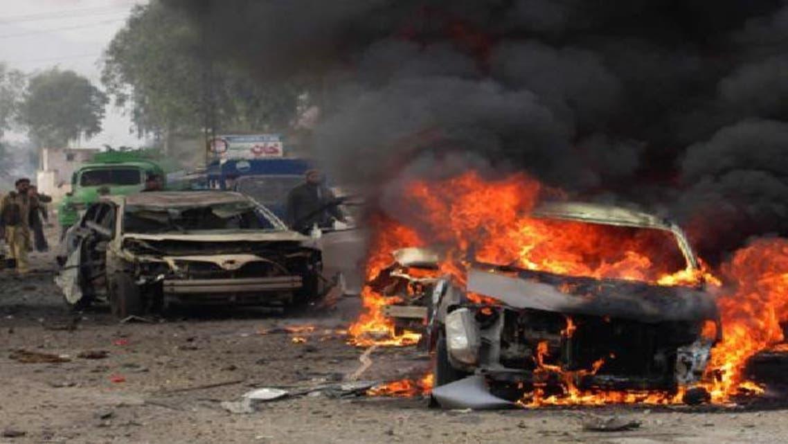 """انفجار مركبة مفخخة بـ\\""""جمرود\\"""" غرب باكستان"""