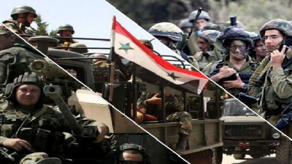 """من \\""""اليمين\\"""" الجيش الإسرائيلي والسوري والروسي"""