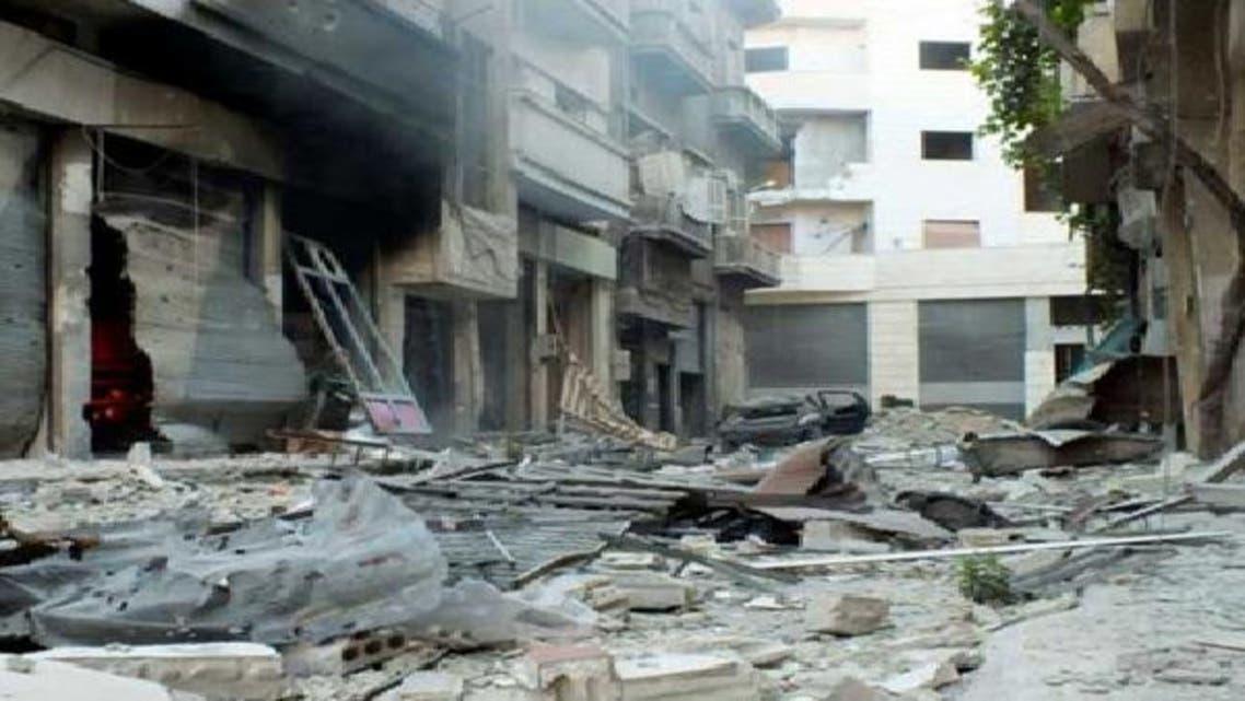 منازل مهدمة في أحد الأحياء السورية