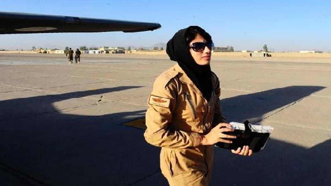 Lt. Nilofor Rhmani is now the first female pilot in the Afghanistan air force to fly solo under the air force's pilot training program, the first in the country in more than 30 years. (Photo courtesy Air Force Times)