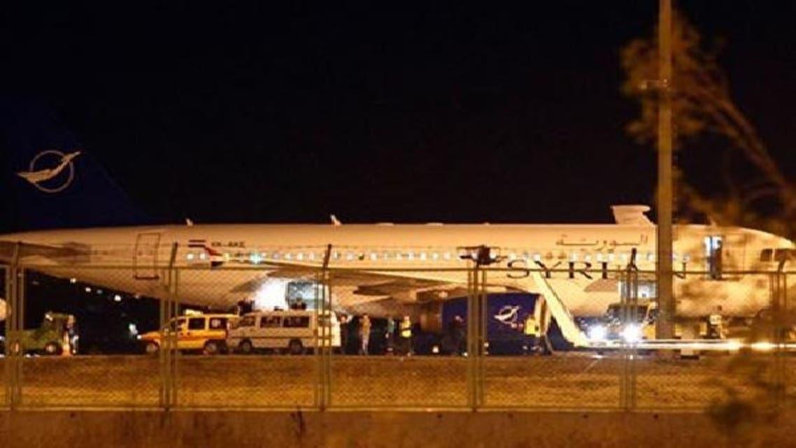 شام کے ایک مسافر طیارے کو بدھ کو انقرہ کے ہوائی اڈے پر اتار لیا گیا تھا