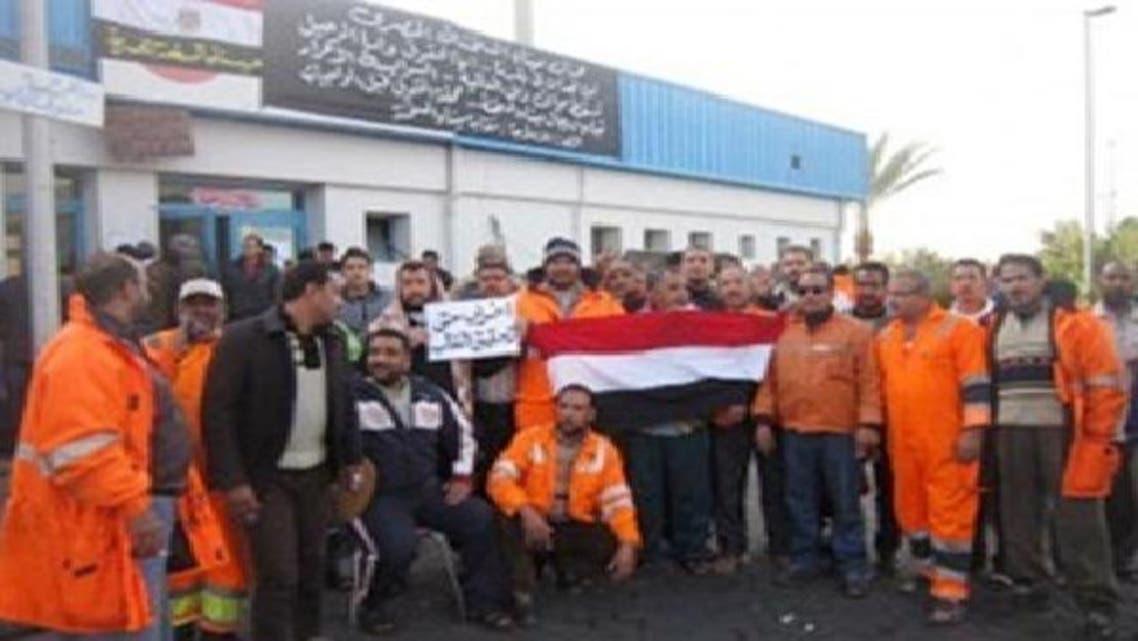 توقف العمل بميناء العين السخنة بعد إضراب العمال
