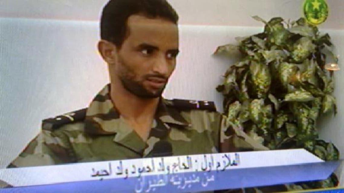 الضابط ولد احميد كما ظهر على التلفزيون الموريتاني
