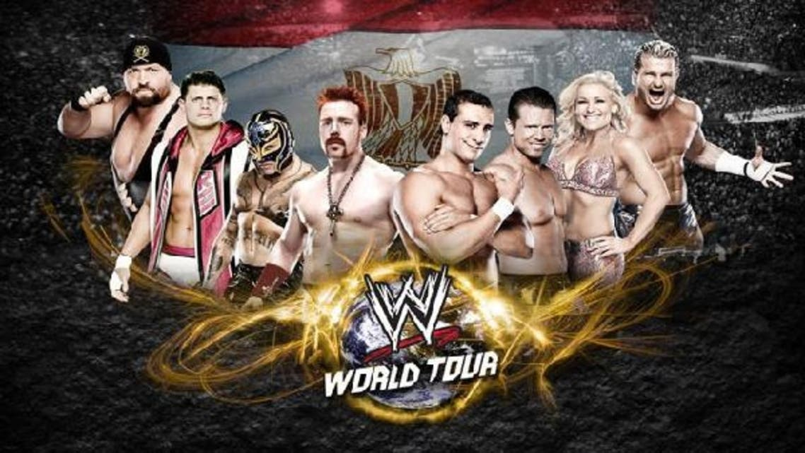 WWE wrestlers have performed their first live show in Egypt on Thursday. (Photo courtesy WWE Arabia)