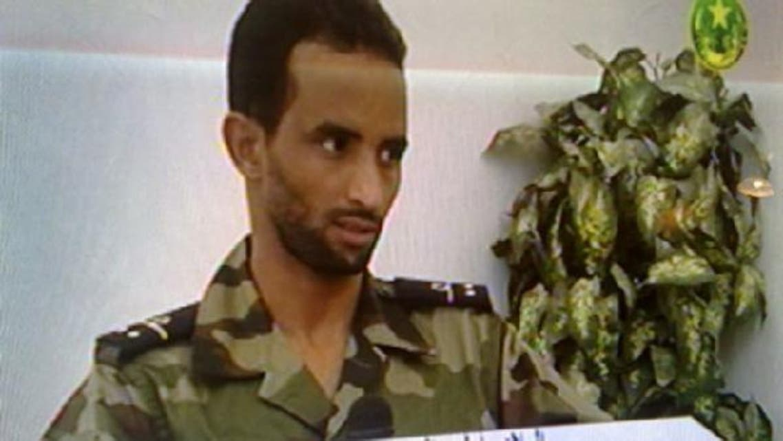 """Lieutenant Elhaj Ould Hmoudy appeared on Mauritania's national TV saying that he fired at a """"suspicious vehicle"""" not knowing that the country's president is inside. Mauritania's president was wounded by two bullets on October 13th. (Screen grab from Mauritania's national TV)"""