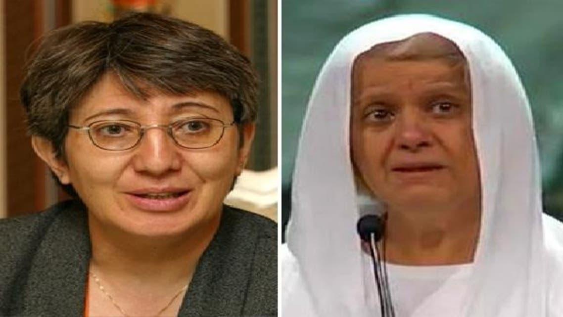 دائیں سے: مصری راہبہ ماگی جبران اور افغانی خاتون سیما سمار