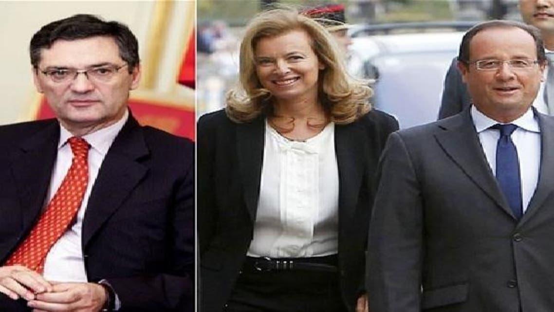 دائیں سے: فرانس کے صدر اولاند و والیری وسابق وزیر ڈیوڈجان