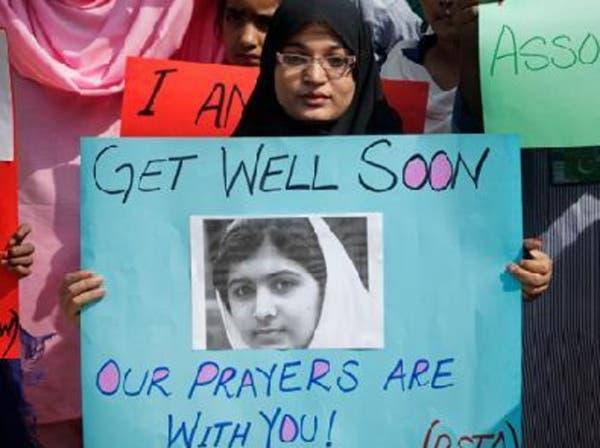 الفتاة ملالا ضحية طالبان تتعلق بأهداب الحياة