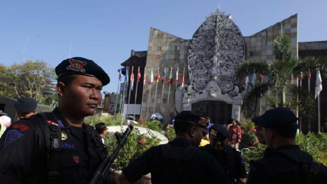 An Indonesian policeman stands guard at the 2002 Bali bombing memorial monument, ahead of the 10-year anniversary of the incident in Kuta, Bali resort island October 11, 2012. (Reuters)