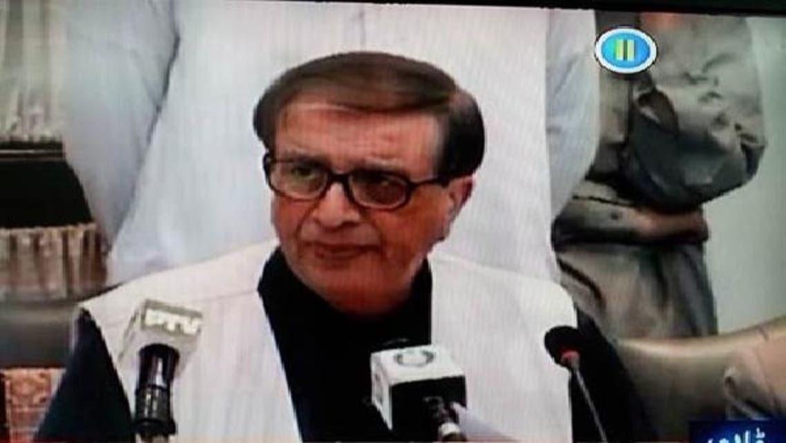 سیکرٹری الیکشن کمیشن اشتیاق احمد اسلام آباد میں نیوز کانفرنس کر رہے ہیں