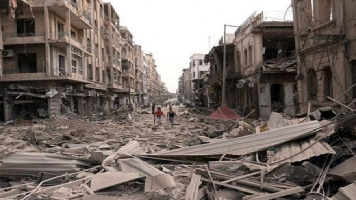 صور لحي مدمر في سوريا