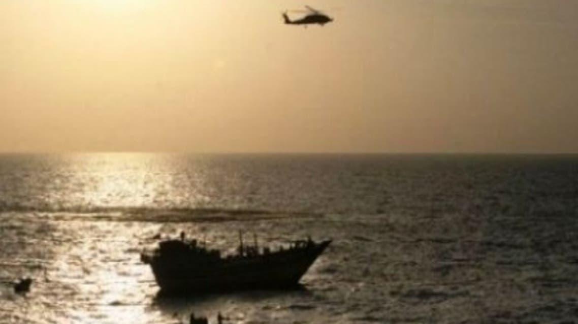 توقیف یک کشتی حامل اسلحه در سواحل یمن که گمان می رود از ایران است