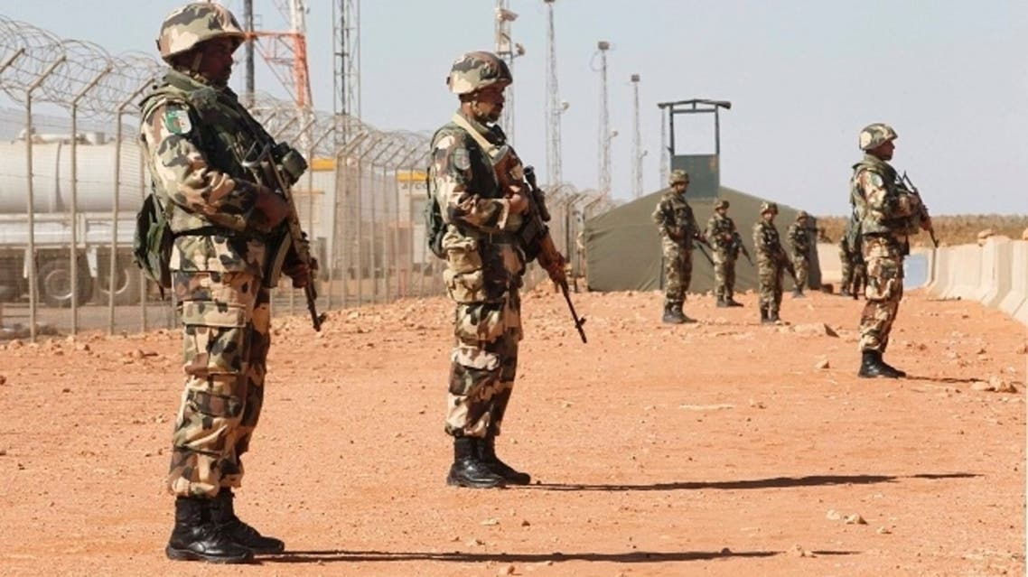Algerian soldiers are seen at the Tiguentourine Gas Plant in In Amenas, 1600 km (994 miles) southeast of Algiers, Jan. 31, 2013. (Reuters)