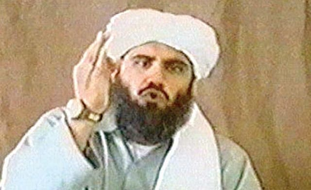 Osama bin Laden's son-in-law Suleiman Abu Gheith was al-Qaeda's spokesman and lived in a camp in Iran until he was forced to flee the country. (Photo courtesy www.aawsat.com)