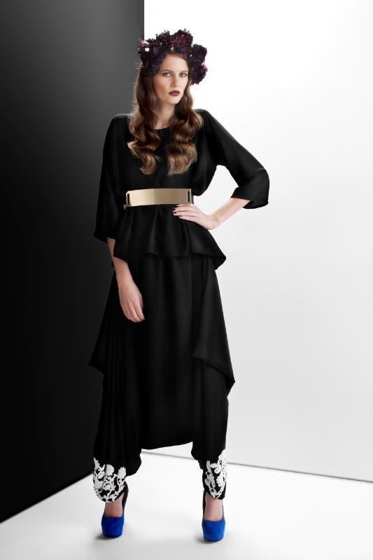 "A two-piece Abaya from the new ""Bleach"" fashion line created by Emirati artist Badreya Faisal. (Courtesy: Bleach)"