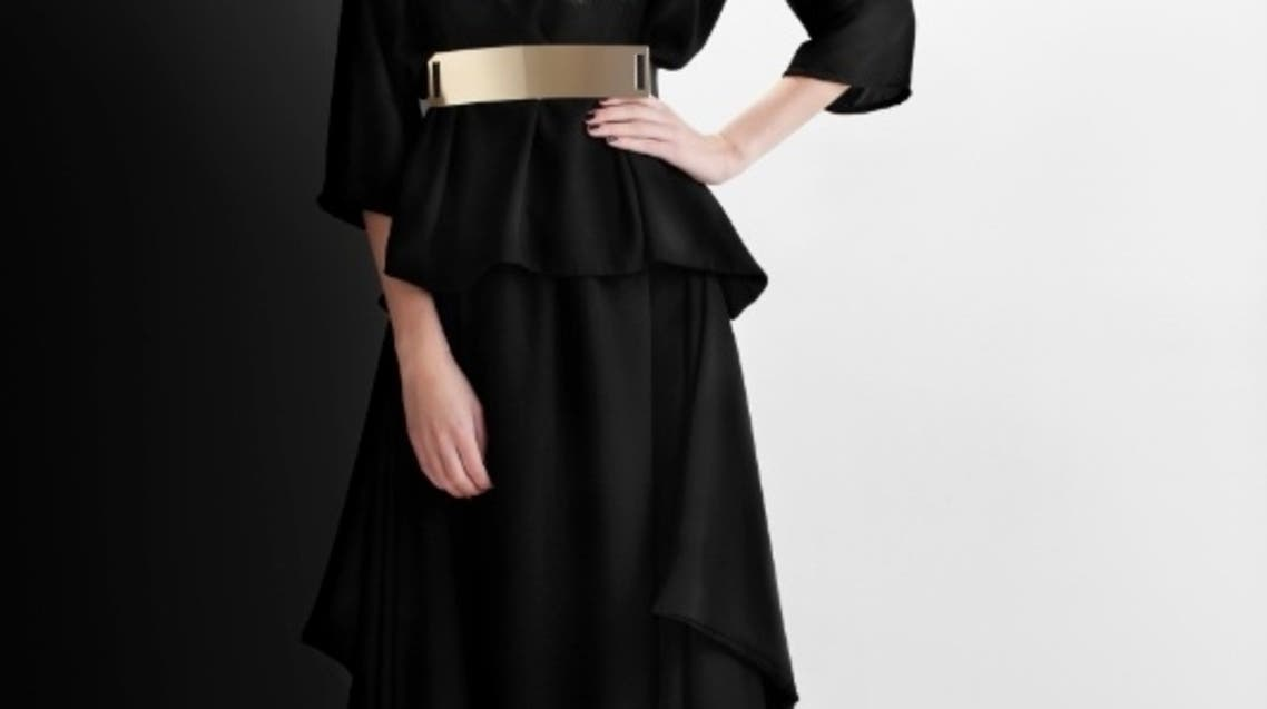 "A two-piece Abaya from the new ""Bleach"" fashion line created by Emirati artist Badreya Faisal. (Courtesy: Bleach)"