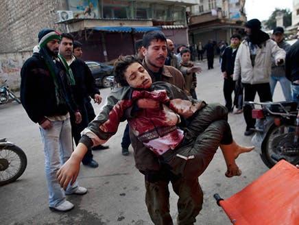 إحدى الصور التي نشرها الناشطون السوريون