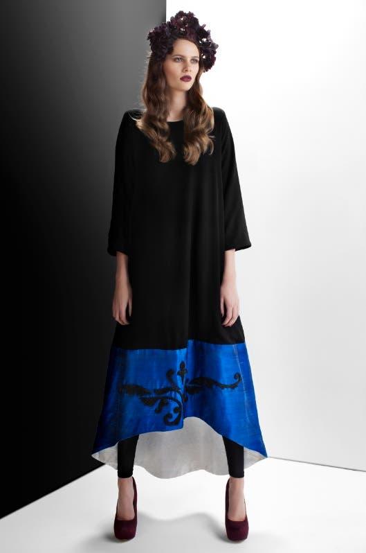 "A one-piece Abaya from the new ""Bleach"" fashion line created by Emirati artist Badreya Faisal. (Courtesy: Bleach)"