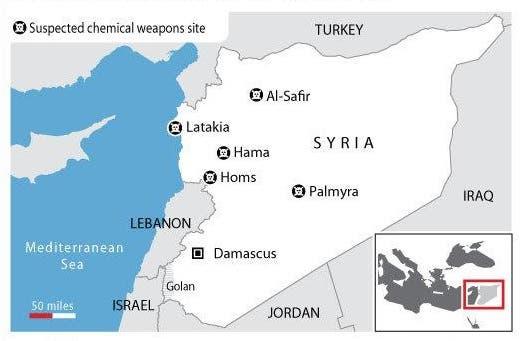 من غلوبال سيكيوريتي: مواقع تواجد السلاح الكيماوي