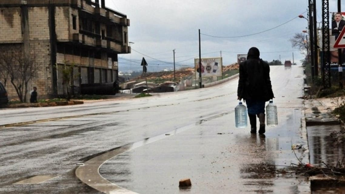 UNICEF is struggling to meet its goal of providing 750,000 people in Syria with safe drinking water, soap, hygiene kits, toilets and bathrooms by June, because of a funding gap of 80 percent. (AFP)