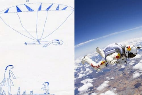 فيليكس رسم حلمه بالقفز من الفضاء في سن الخامسة