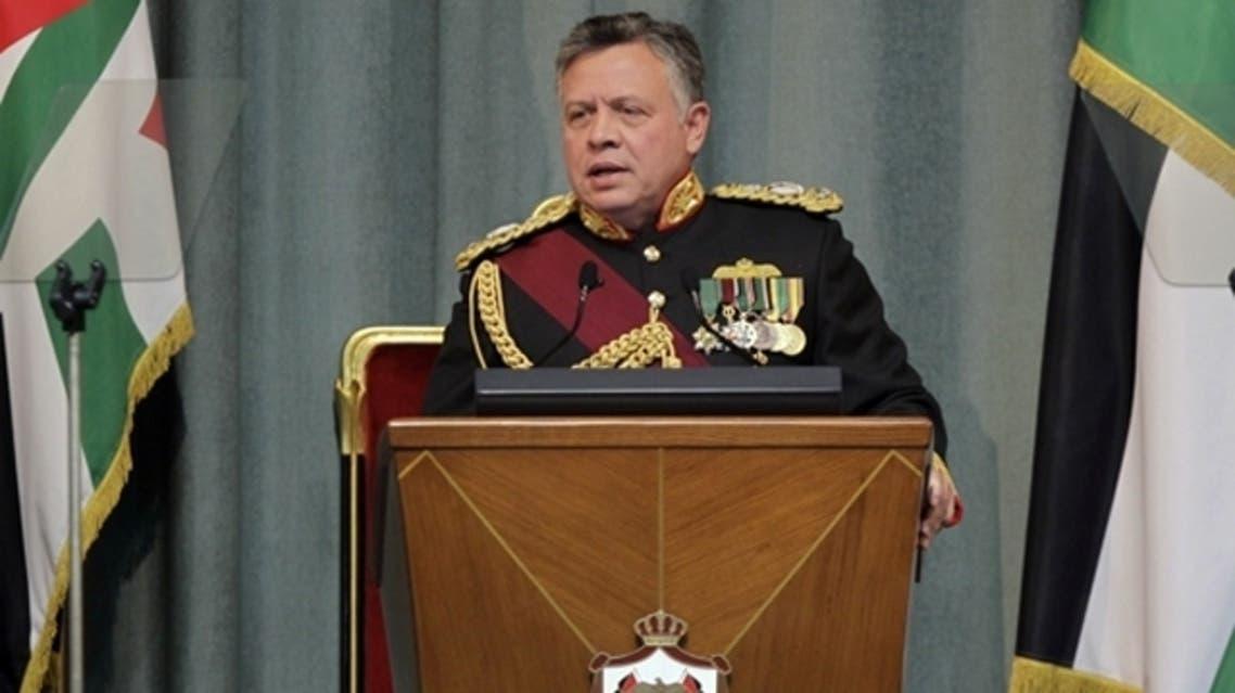 Jordan's King Abdullah II addresses the opening of the Jordanian Parliament in the capital Amman on Feb.10, 2013. (AFP)