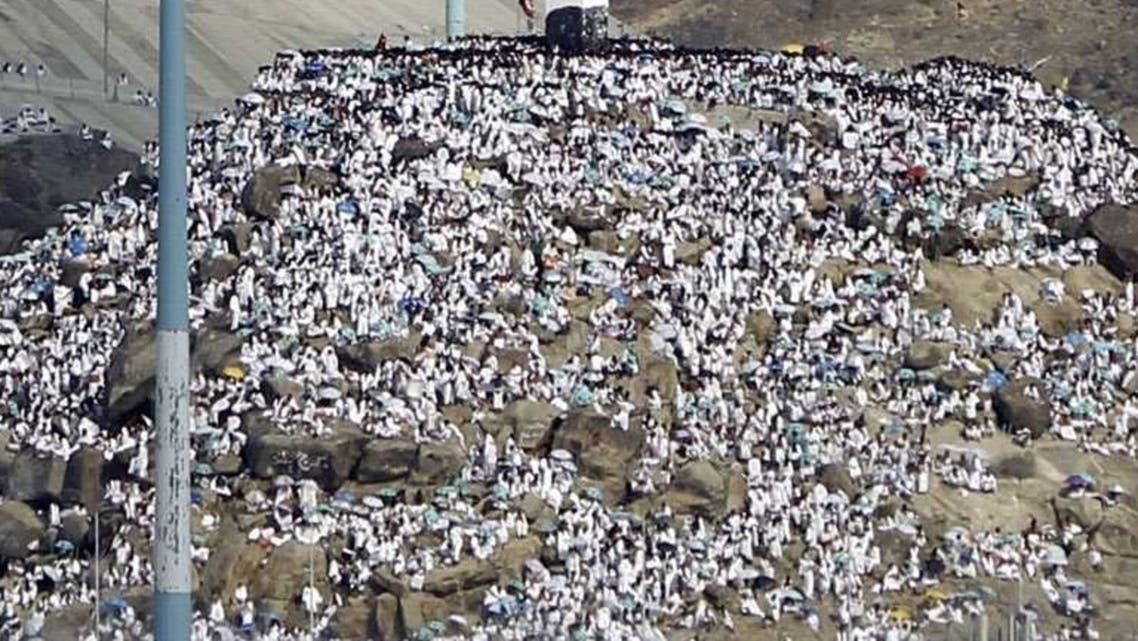 حجاج بيت الله الحرام على جبل عرفات