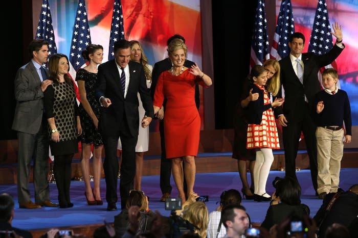 عائلة ميت رومني بعد الخطاب