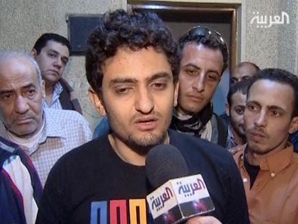 Wael Ghonim talking to Al Arabiya after his release