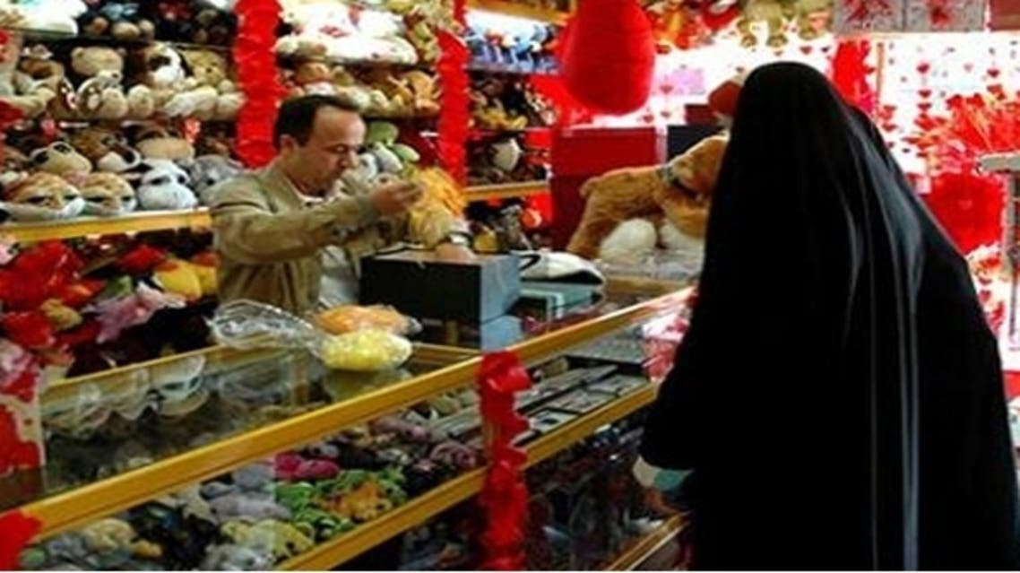 Florists and toy stores sometimes hide their red roses and romantic gifts out of sight to avoid being shut down during Valentine's Day. (Al Arabiya Net)
