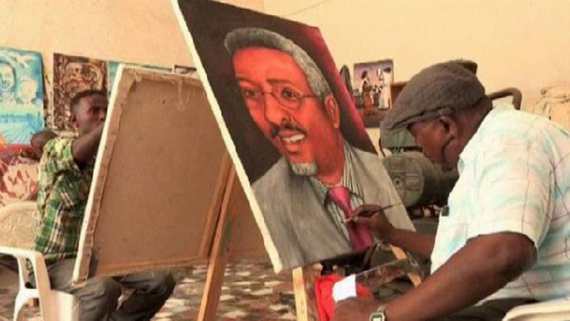 Somali artists resurface in Mogadishu, feeling more confident to carry out their work in public.  (Reuters)
