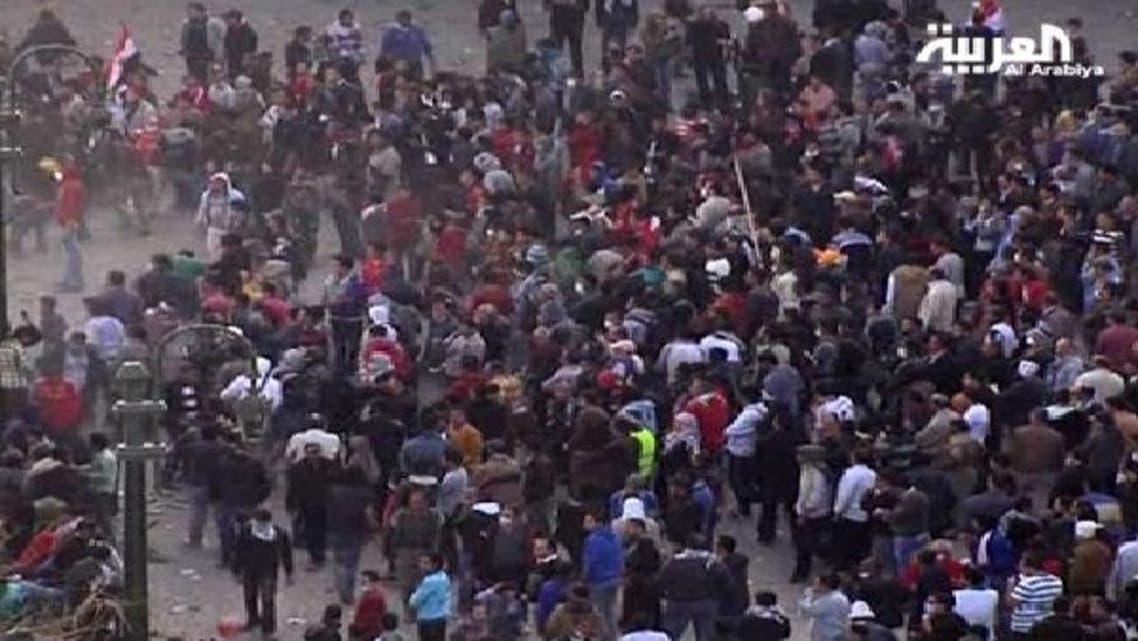 جانب من المظاهرات في ميدان التحرير