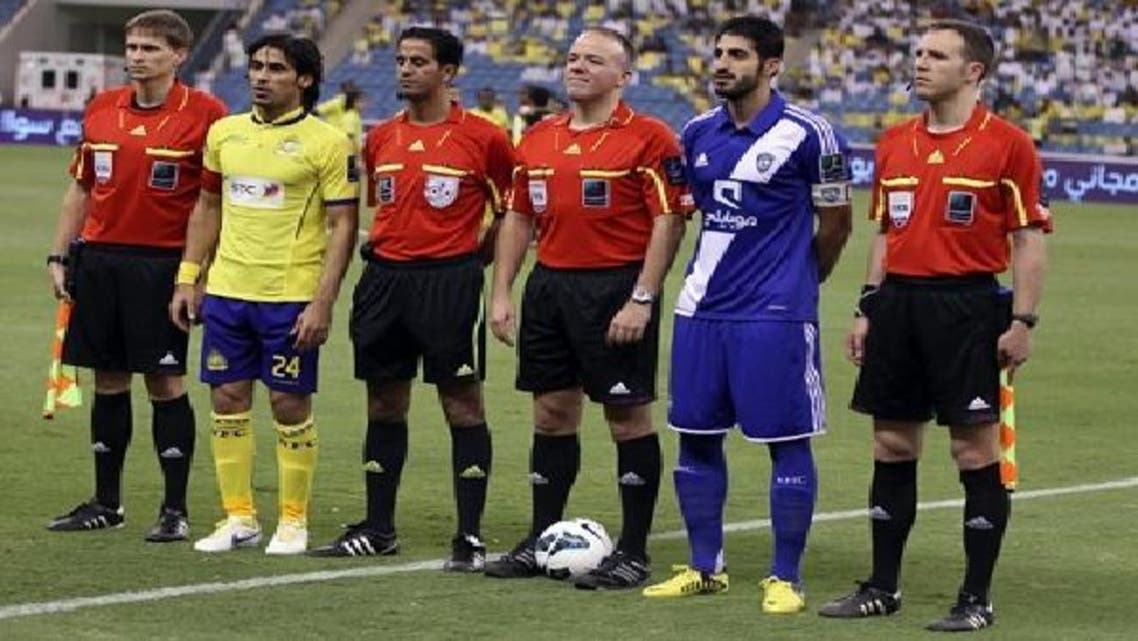 لقطة من آخر مباراة جمعت الهلال والنصر (تصوير بدر الحمد)