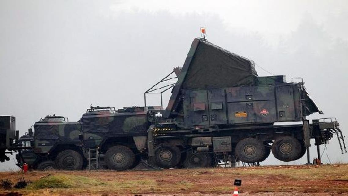 German military vehicles carrying equipment for NATO patriot defense missiles are deployed at a military base in Kahramanmaras January 23, 2013. (Reuters)