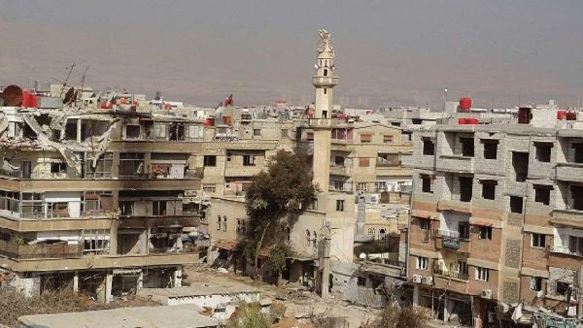A handout photograph distributed by Syria's national news agency SANA on Jan. 26 2013, shows damaged buildings in Darya near Damascus, after clashes between forces loyal to President Bashar al-Assad and fighters of the Free Syrian Army. (Reuters)