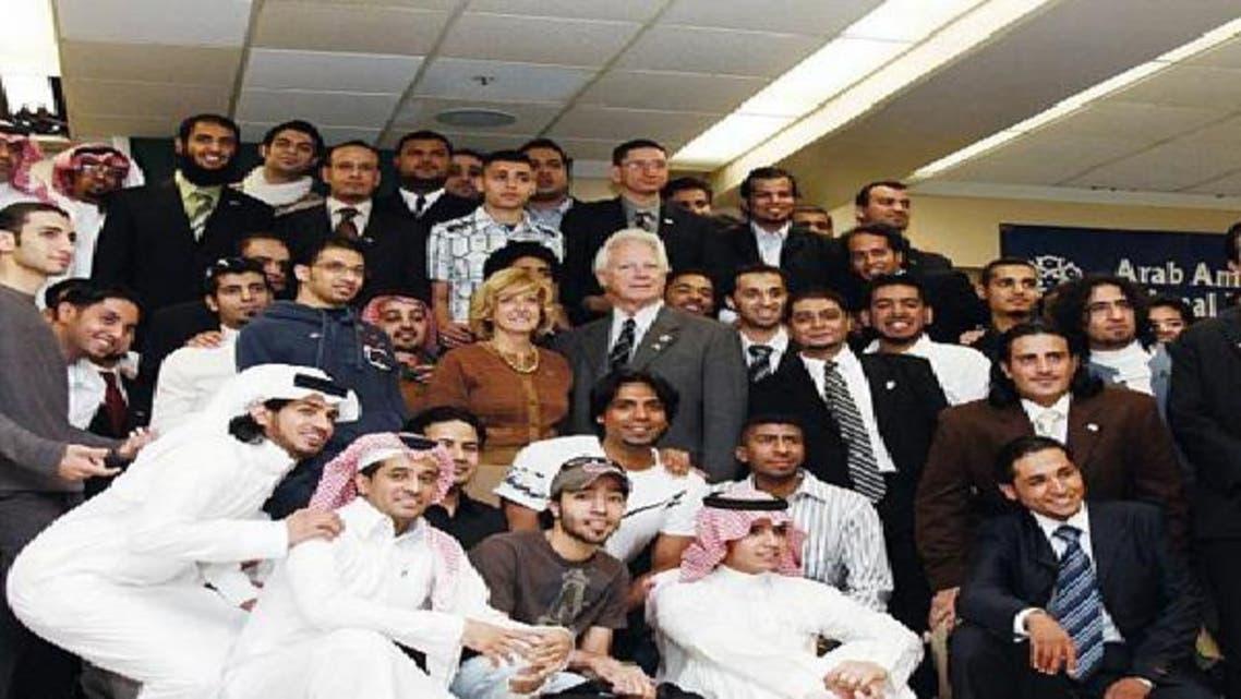 مجموعة من الطلبة السعوديين في أمريكا